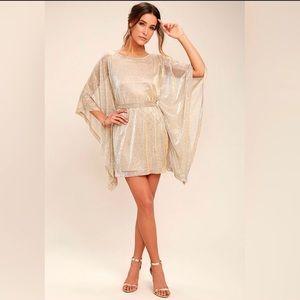 Lulus Gold Dress NWOT